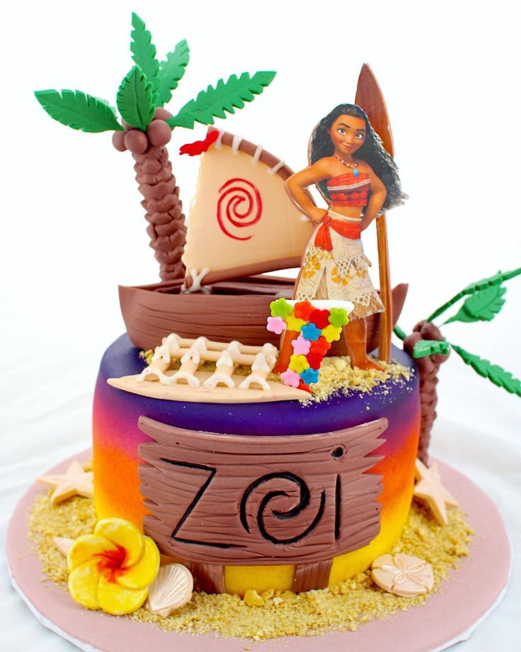 MOANA CAKE DONE BY CAKE BASH STUDIO AND BAKERY SHERMAN OAKS CALIFORNIA