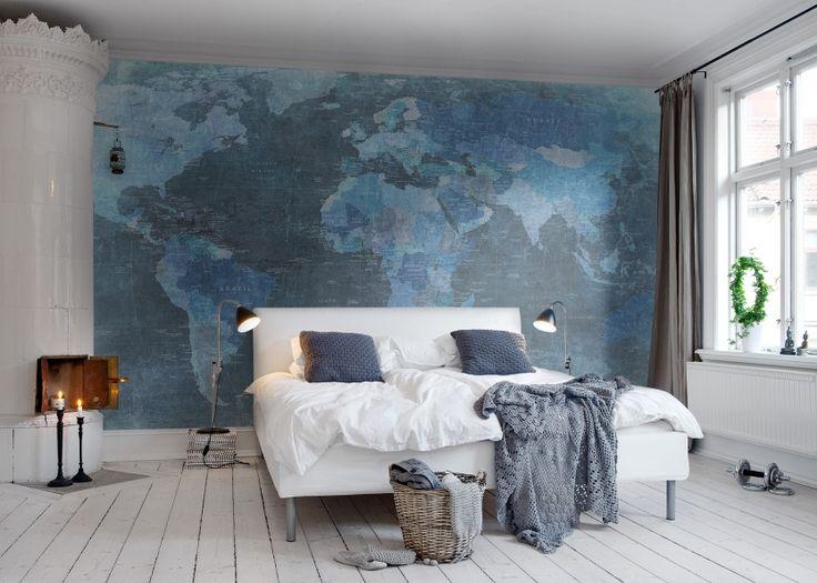 78 best Inspiración Mapas images on Pinterest Maps, Wall murals - copy world map wallpaper for mobile