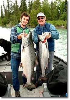 Alaska Salmon Fishing Lodges on Kenai River in Alaska. Alaskan Lodging & Salmon Fishing Packages for halibut, kings, & silvers.