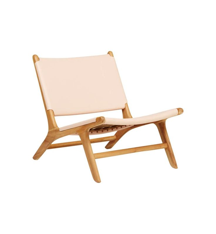 Fenton & Fenton – Flat Leather Marlboro Chair - Teak & Natural