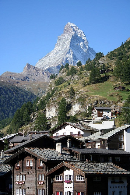 Zermatt with Matterhorn by Nelson Minar, via Flickr