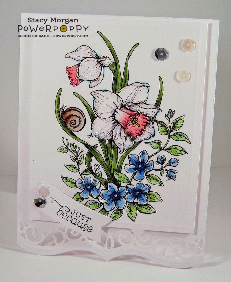 Twinshappy:Dancing With Daffodils Digital Stamp Set by Power Poppy!