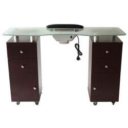 Table manucure double colonne avec aspirateur