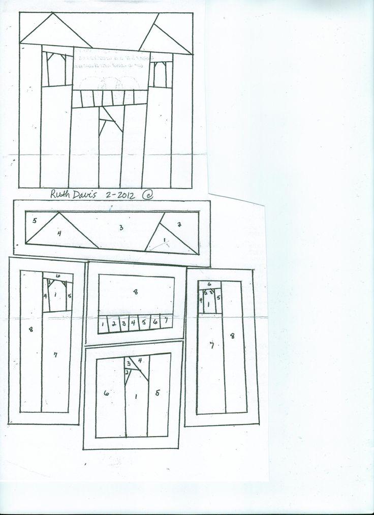 219 Best Images About Quilt Houses Buildings Paper