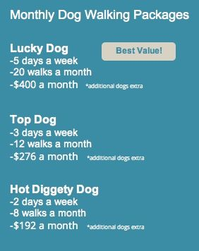 Pet Sitters of Las Vegas Dog Walking Rates