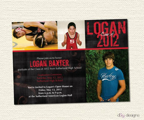 Picture Graduation Party Invitations