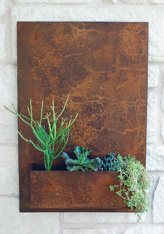 Vertical Garden Metal Succulent Wall Planter  20 x by UrbanMettle, $220.00