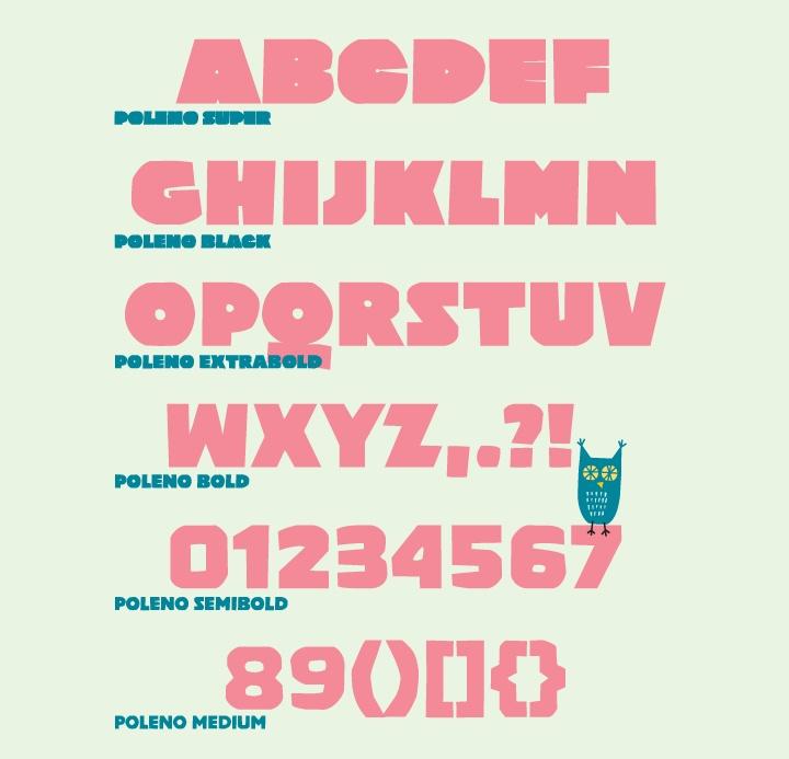 DizajnDesign - Poleno Type specimen