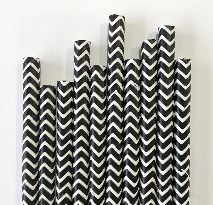 Black Chevron Paper Straws.  Available at www.theprettybaker.co.nz