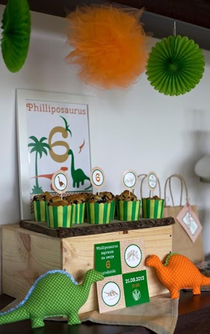 Dinosaur Themed 6th Birthday Party with Lots of Awesome Ideas via Kara's Party Ideas | KarasPartyIdeas.com #Dinosaur #PartyIdeas #PartySupplies