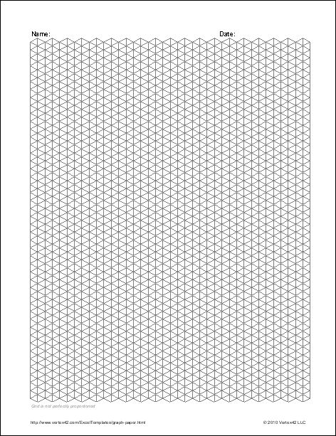 Download the Isometric Graph Paper from Vertex42.com
