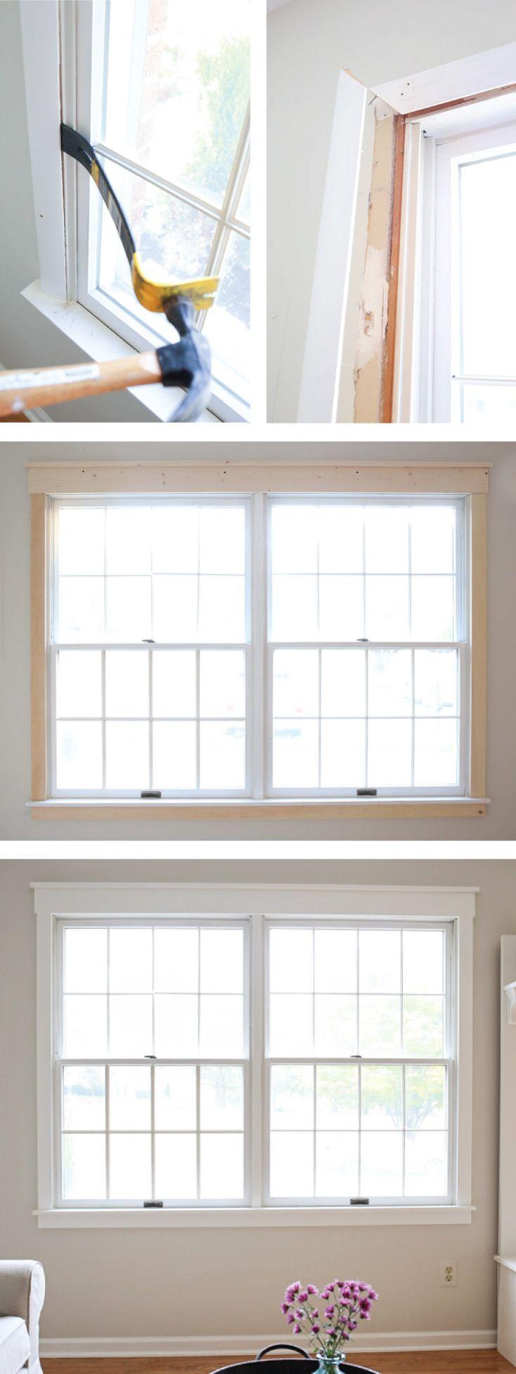 Diy interior window trim - How To Update Window Trim