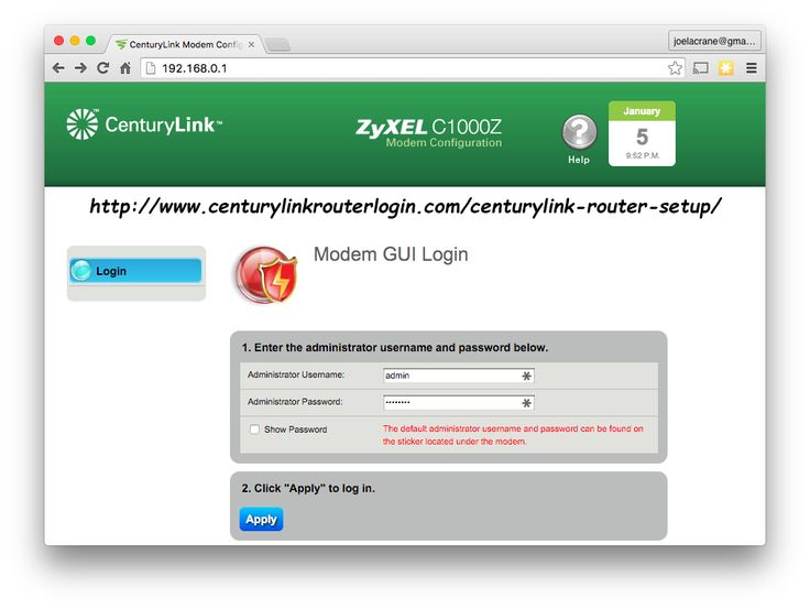 You may need to reset the default password for 192.168.0.1 CenturyLink login page in many cases. If you forgot the login details for accessing the myCenturyLink sign in page, you must change the password for your CenturyLink modem.  Here are the Steps for resetting the 192.168.0.1 CenturyLink login Password http://www.centurylinkrouterlogin.com/centurylink-router-login/reset-password-centurylink-password/