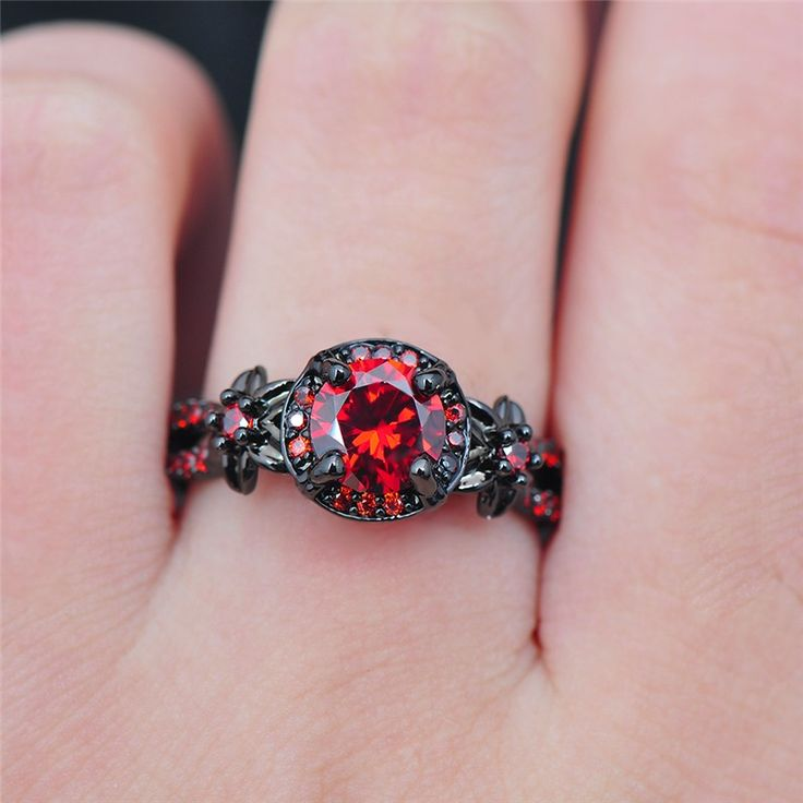 Black Gold Filled Fire Ruby For Sale! Surprise... - Love/hate Relationship