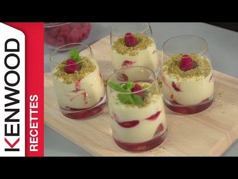 Recette de Tiramisu Framboises et Pistaches avec le Cooking Chef de Kenwood - YouTube