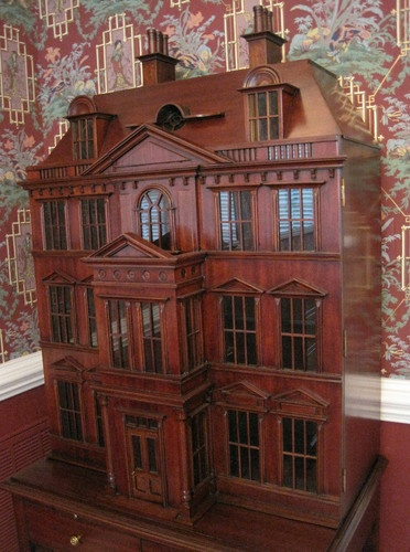 Stained wood dollhouse