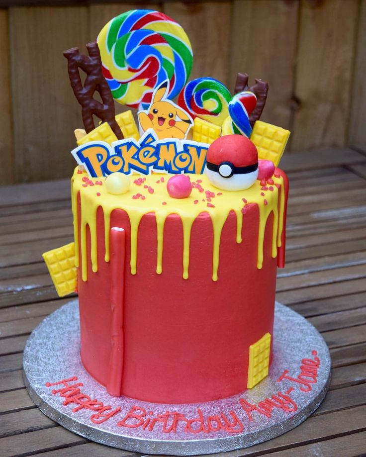 1683 best cakes for boys images on pinterest conch fritters a chocolate gluten free pokemon drip cake publicscrutiny Choice Image
