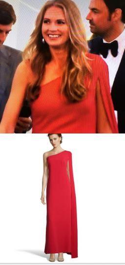 Southern Charm Fashion: Cameran Eubanks Season 3 Finale Red One Shoulder Cape Gown http://www.bigblondehair.com/reality-tv/cameran-eubanks-red-one-shoulder-cape-gown/ Jill Stuart