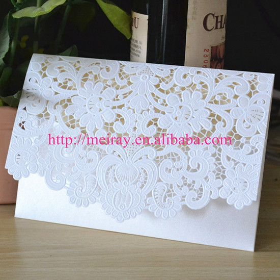 Тиснением белый открытка на день рождения/свадьба/бизнес партия, Фантазии карман раза свадебные приглашения с конверты