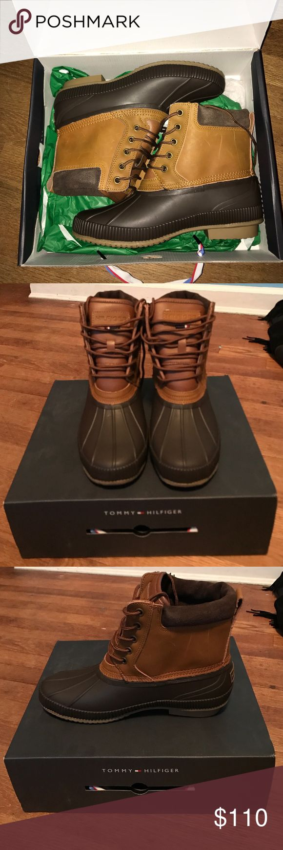 BRAND NEW TOMMY HILFIGER BOOTS! Style: Charlie Brand new, still in box Tommy Hilfiger winter boots. Upper boot: made of leather. Waterproof and insulated! Tommy Hilfiger Shoes Rain & Snow Boots