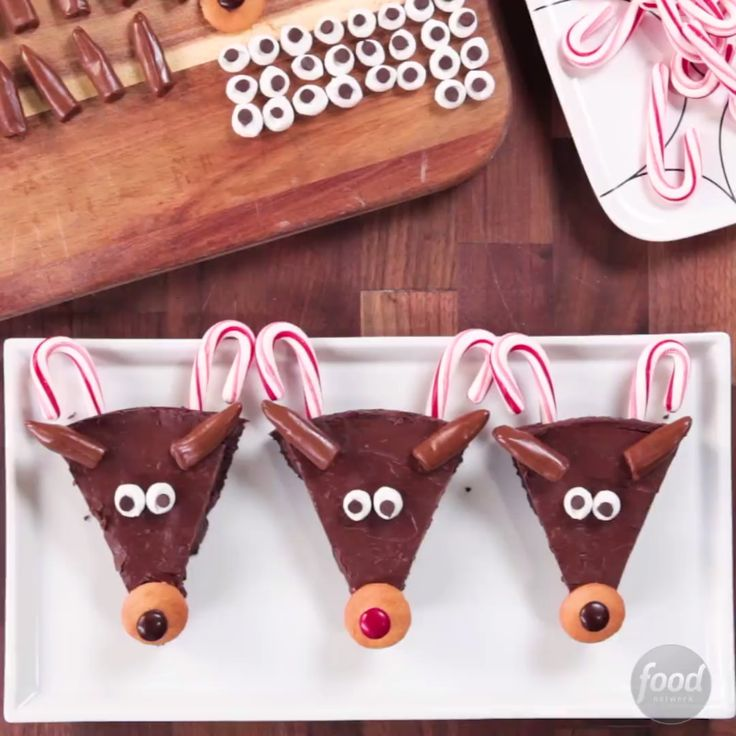 Recipe of the Day: Christmas Reindeer Brownies To really light up the dessert course, you'll need these adorable reindeer brownies on hand. Kids and adults alike will be drawn to their cute little red noses. Even better, they're so easy the kids can help make them!