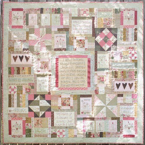 """""""Journey of A Quilter"""" designed by Leanne Beasley for Leanne's House."""