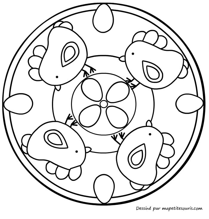1000 images about mandala on pinterest coloring mandala coloring pages and coloring pages - Dessin de paques a colorier ...