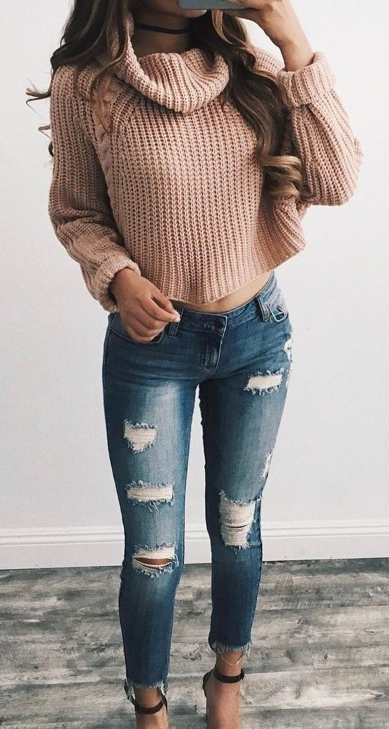 7c94670d28db6 Winter Sweater Outfit Ideas