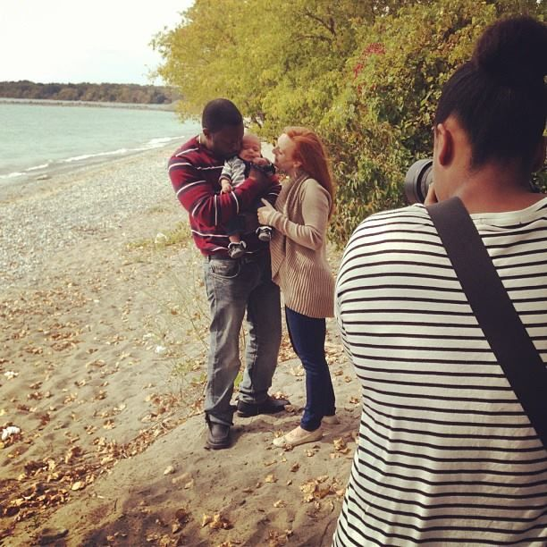 Fall family portrait session with the Chevolleaus at the Pickering Ontario lakefront! #behindthescenes #scpbts