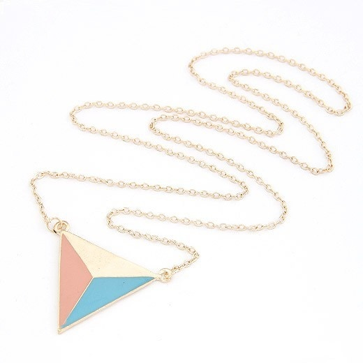 Triangle CHAIN -Mint meets Apricot via Handsome Store. Click on the image to see more!