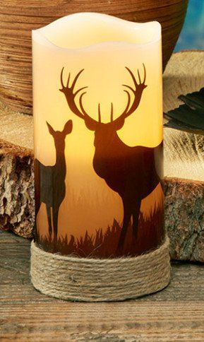 Deer LED Pillar Candles with 5 Hour Timer - Set of Two - Made with Real Wax Deco Flair http://www.amazon.com/dp/B00X8WW11S/ref=cm_sw_r_pi_dp_CGlEvb0GCRGJG
