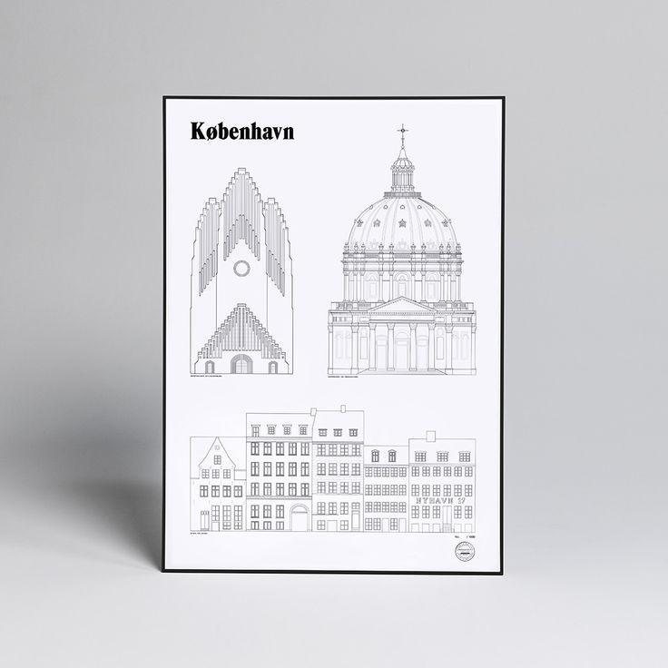 Studio Esinam Kobenhavn Landmark Poster