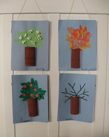 This crafty activity provides a hands-on way for your child to illustrate how the trees look during each season of the year.