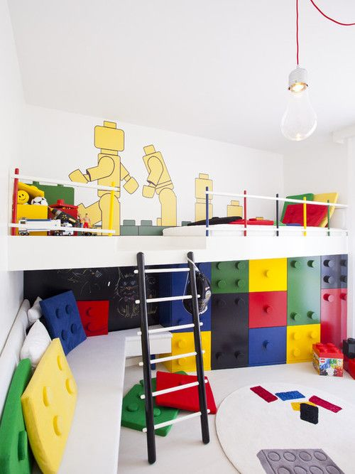 The boys would flip out. (via Kids Photos Lego Bunk Design, Pictures, Remodel, Decor and Ideas)