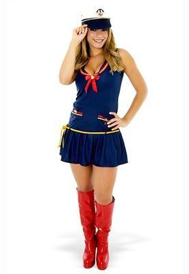 Fantasia Marinheira Vestido Adulto-60070
