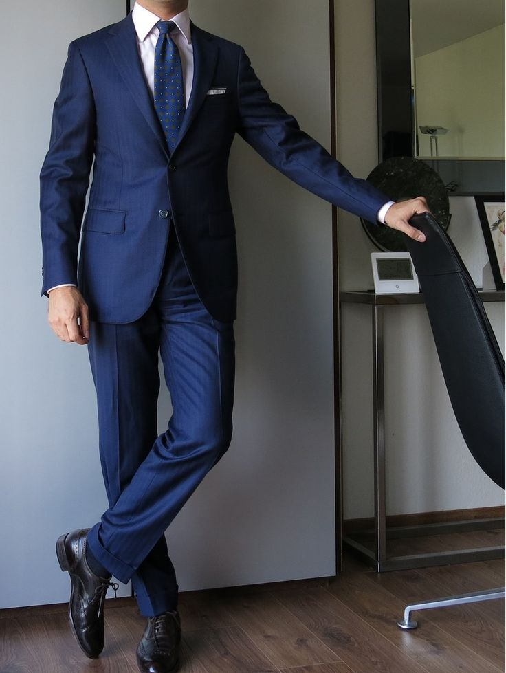 Via paul-lux: Mabro MTM suit - Courtot bespoke shirt - Drake's tie -Anderson & -Sheppard PS -Carmina shoes
