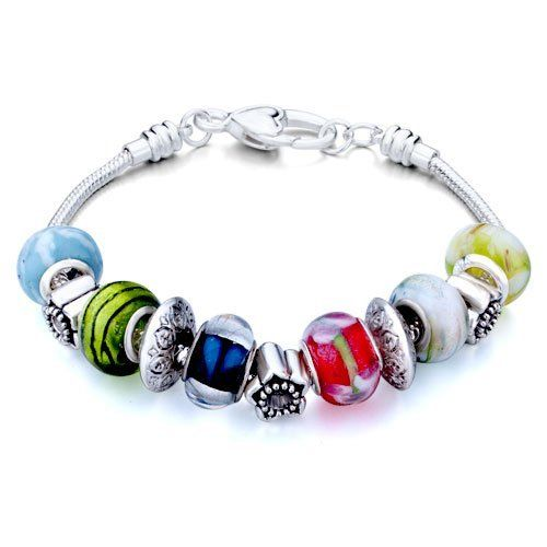Pugster Murano Glass Beads Fit Pandora Chamilia Biagi Charm Bracelet Pugster. $49.99. Color: silver,colorful. Metal: metal,murano glass. Weight (gram): 40.1. Size (mm): 240*14.2*14.2