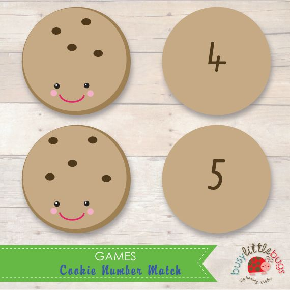 Cookie Number Match by Busy Little Bugs