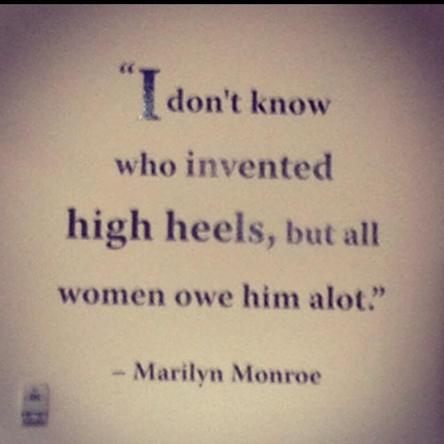 High Heels.: Favoritequotes