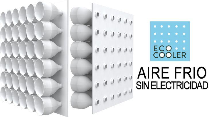 Un aire acondicionado casero que con un simple tablero y unas cuantas botellas de plástico, puede bajar la temperatura 5 °C en pocos minutos!