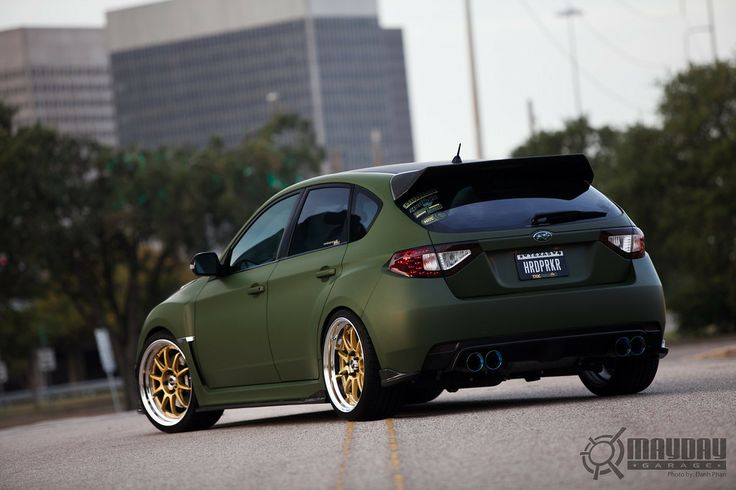 love matte green and gold wheels wrx pinterest  gold rims car