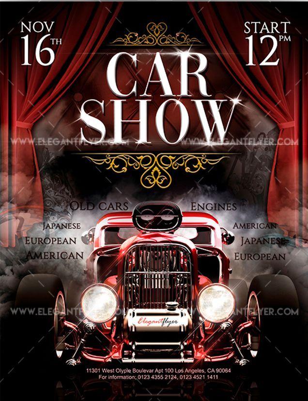 Car Show Free Flyer Psd Template Flyer Template Flyer
