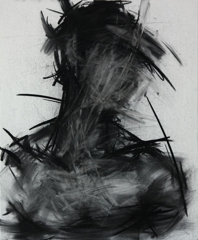 "Saatchi Online Artist: KwangHo Shin; Charcoal, Drawing ""[29] untitled charcoal on canvas 72.5 x 60 cm 2013"""