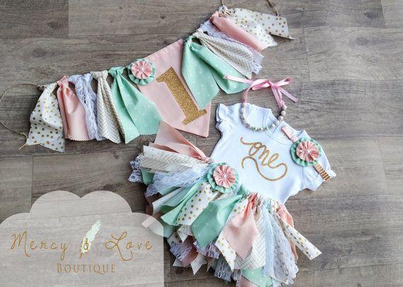 The Amelia Fabric Tutu Birthday Tutu First by MercyAndLoveBoutique