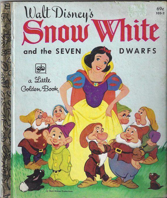 Vintage Walt Disney's Snow White and the Seven Dwarfs Little Golden Book  Children's Book, C1996