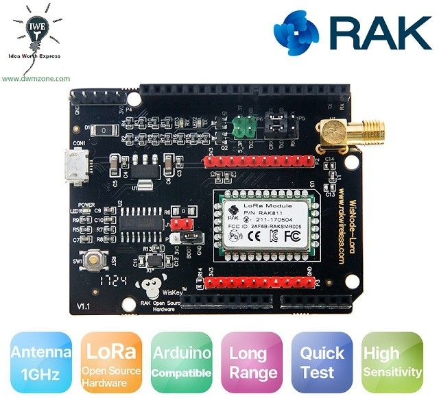 WisNode-LoRa RAK811 /RAK812 LoRa Arduino shield | IOT