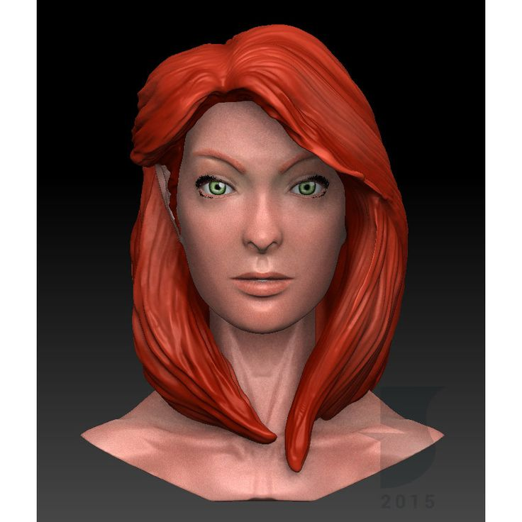 Female Head Sculpt, Fauzan Syabana Kirana on ArtStation at https://www.artstation.com/artwork/female-head-sculpt-824991fe-7e7b-4075-b50c-b6712264d8f0