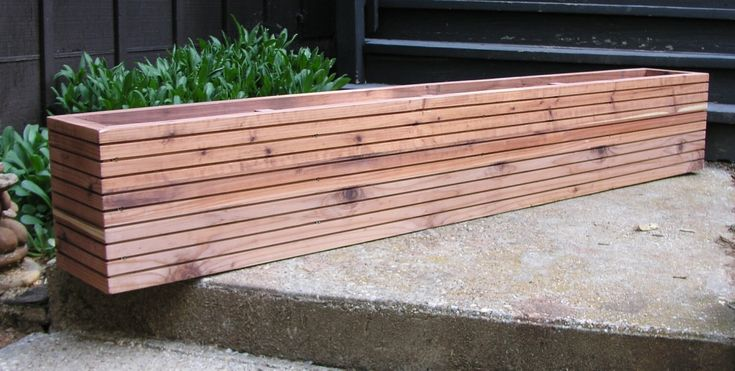 Modern Window Planter Boxes, Mid Century Modern Garden, Free Shipping, 10 Sizes To Choose From, Custom Sizes Available. by MidCenturyWoodShop on Etsy https://www.etsy.com/listing/228823749/modern-window-planter-boxes-mid-century