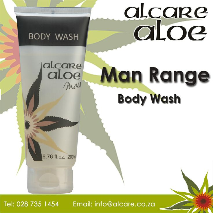 Alcare Aloe Man Body Wash - A masculine body wash with a fresh herbal fragrance that invigorates body and mind.  Order online: http://on.fb.me/1fJVdeb #men #range #bodywash