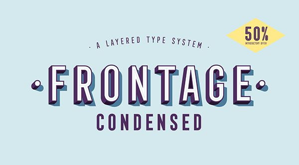 Frontage Condensed Typeface Design | Abduzeedo